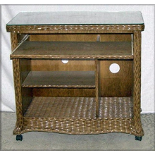 Florentine Wicker Computer Cart Desk - Available in 4 Colors